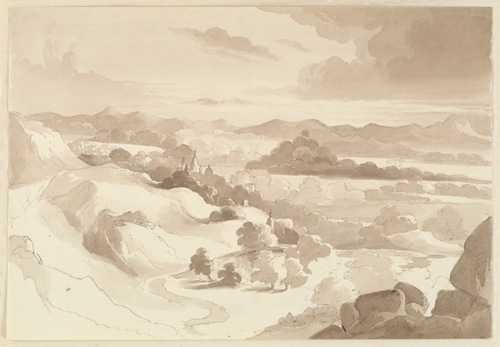 'View of the Ram Gya from the Burrum Jooin Janry. 1831'